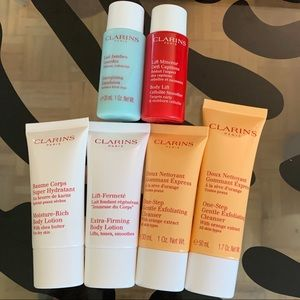 Clarins cleanser and body lotion